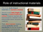 role of instructional materials