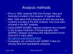 analysis methods