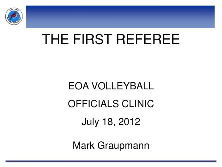 the first referee n.