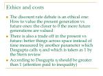 ethics and costs
