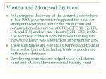 vienna and montreal protocol