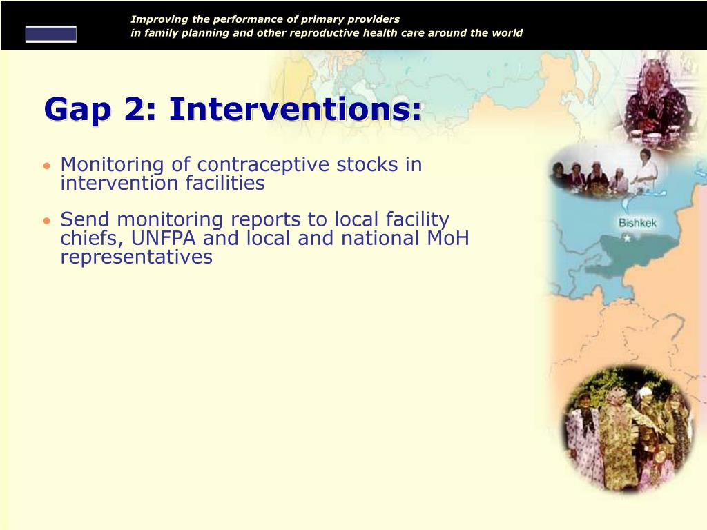 Gap 2: Interventions: