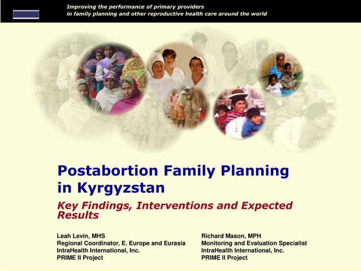 Postabortion family planning in kyrgyzstan