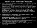 resilience theories reasons