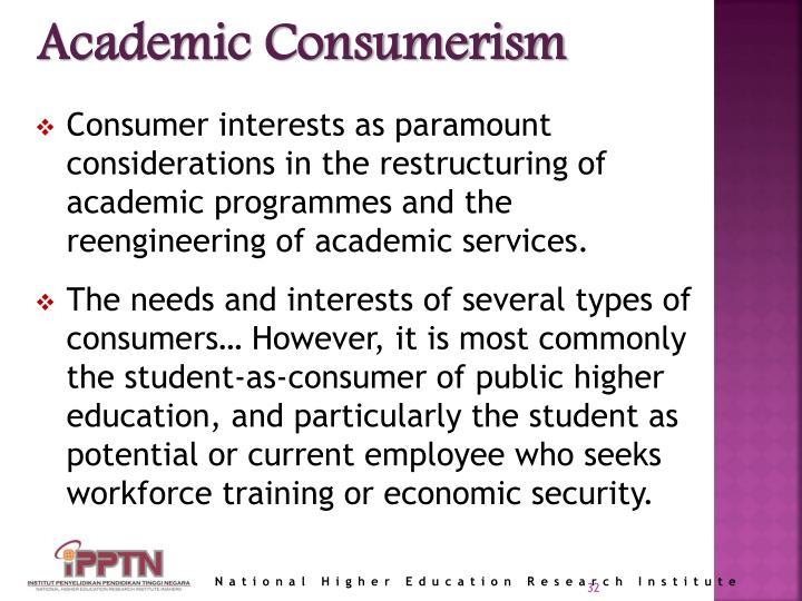 Academic Consumerism