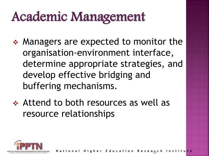 Academic Management
