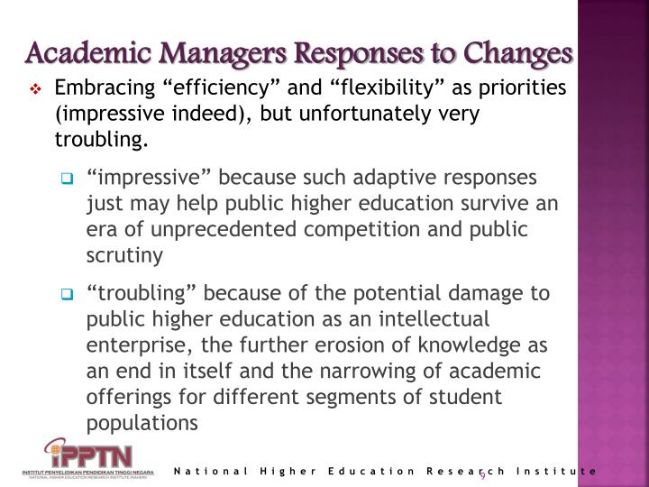 Academic Managers Responses to