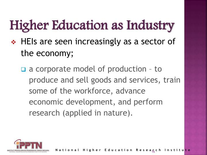 Higher Education as Industry