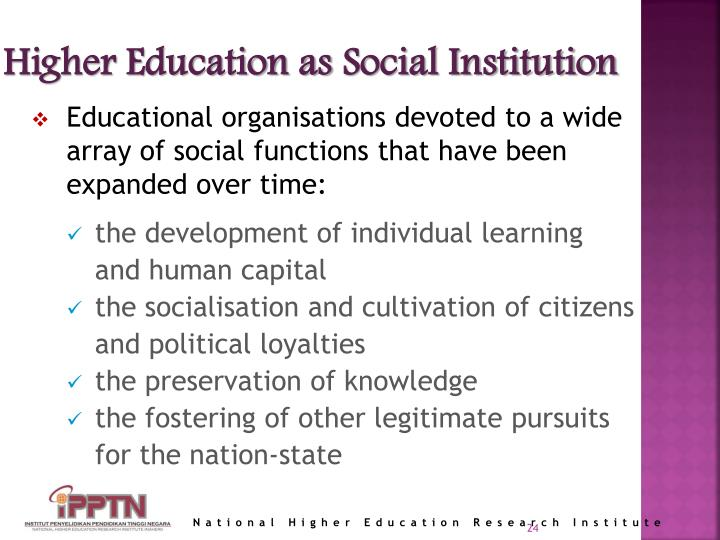 Higher Education as