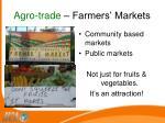 agro trade farmers markets