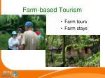 farm based tourism