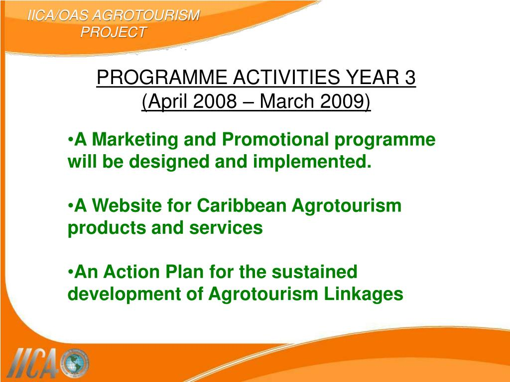 IICA/OAS AGROTOURISM PROJECT