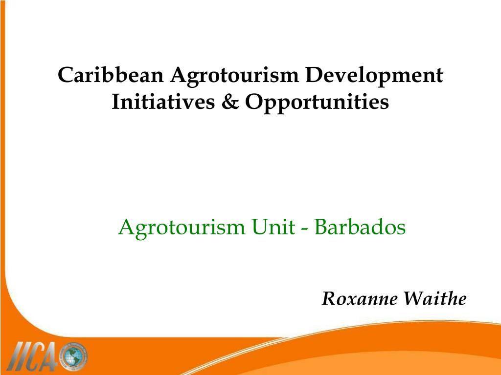 Caribbean Agrotourism Development