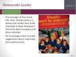 democratic leader