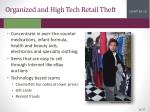 organized and high tech retail theft