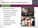orientation and training employees