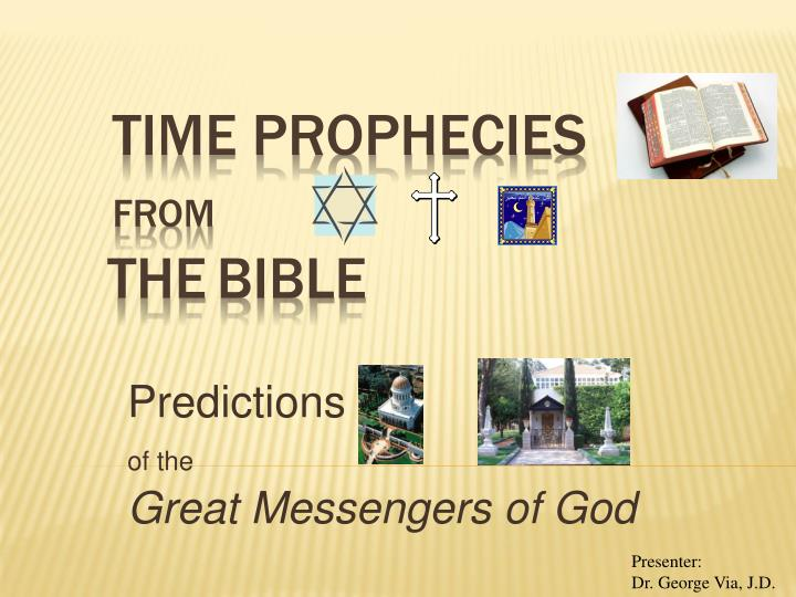 predictions of the great messengers of god n.