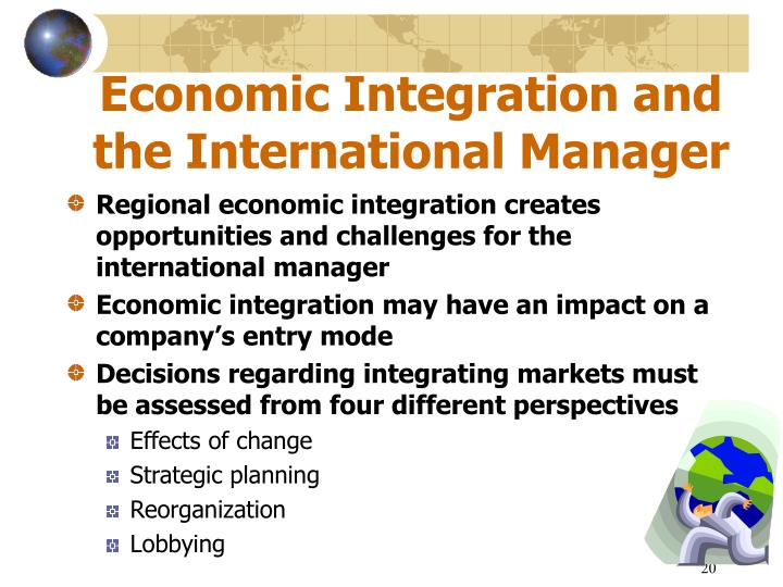 economic integration and international relations Transatlantic economic integration between the european union  international cooperation on ipr enforcement among countries sharing.