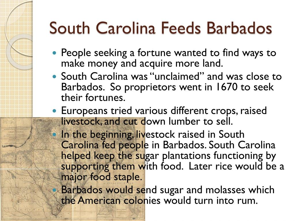 South Carolina Feeds Barbados