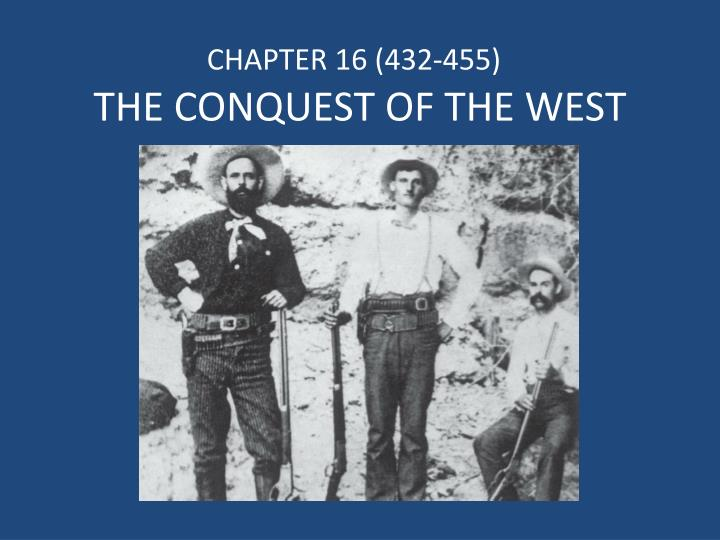 the conquest of the west n.