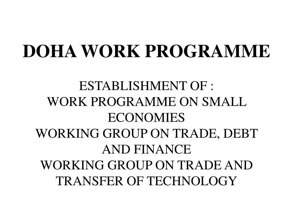 DOHA WORK PROGRAMME