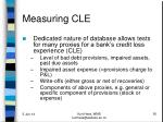 measuring cle