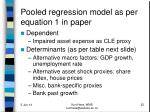 pooled regression model as per equation 1 in paper