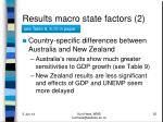 results macro state factors 2