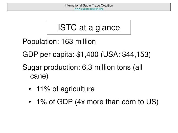 Istc at a glance