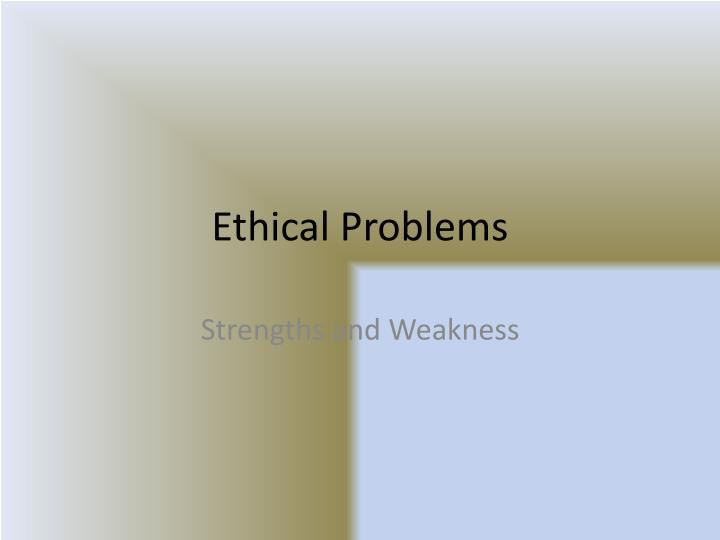 ethical problems n.