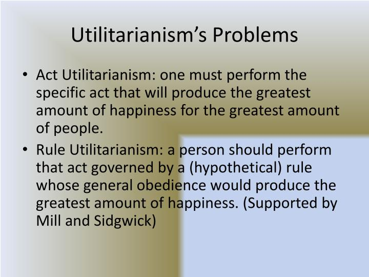 utilitarianism act utilitarianism