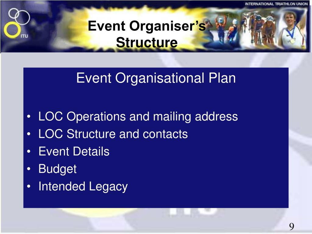 Event Organisational Plan