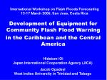 international workshop on flash floods forecasting 13 17 march 2006 san jose costa rica