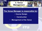 3 venue management