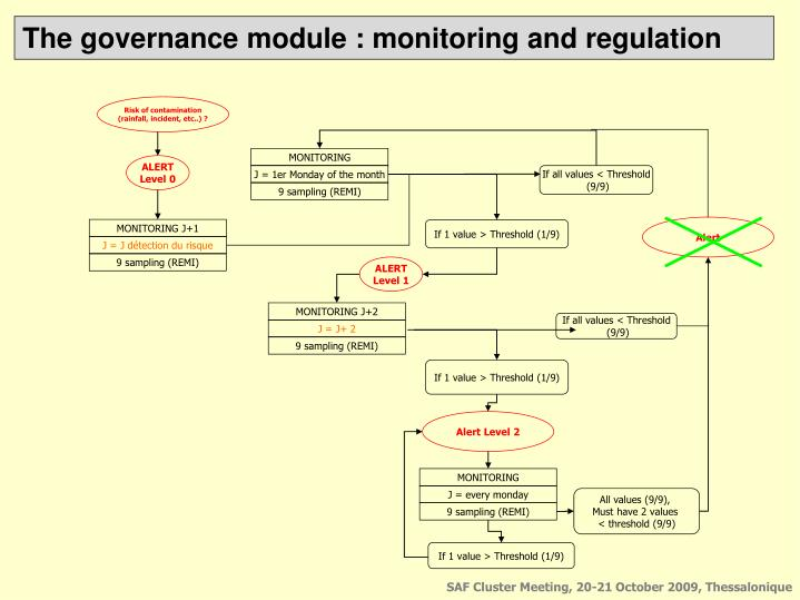 The governance module : monitoring and regulation