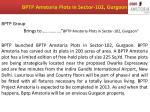 bptp amstoria plots in sector 102 gurgaon
