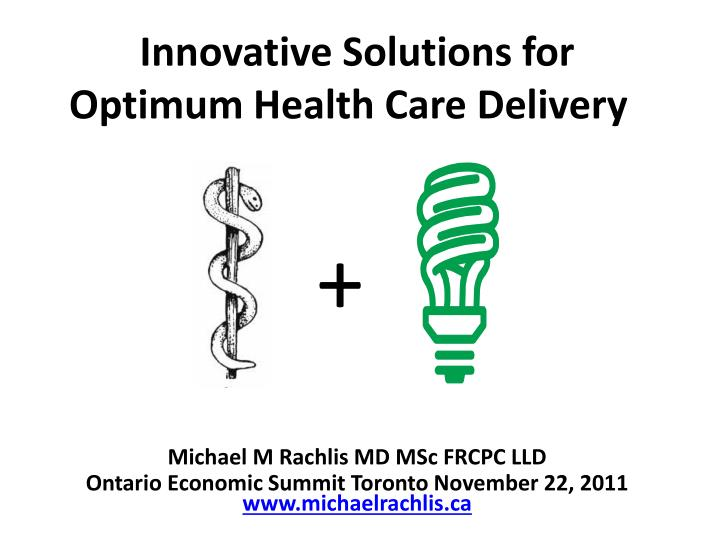 innovative solutions for optimum health care delivery n.