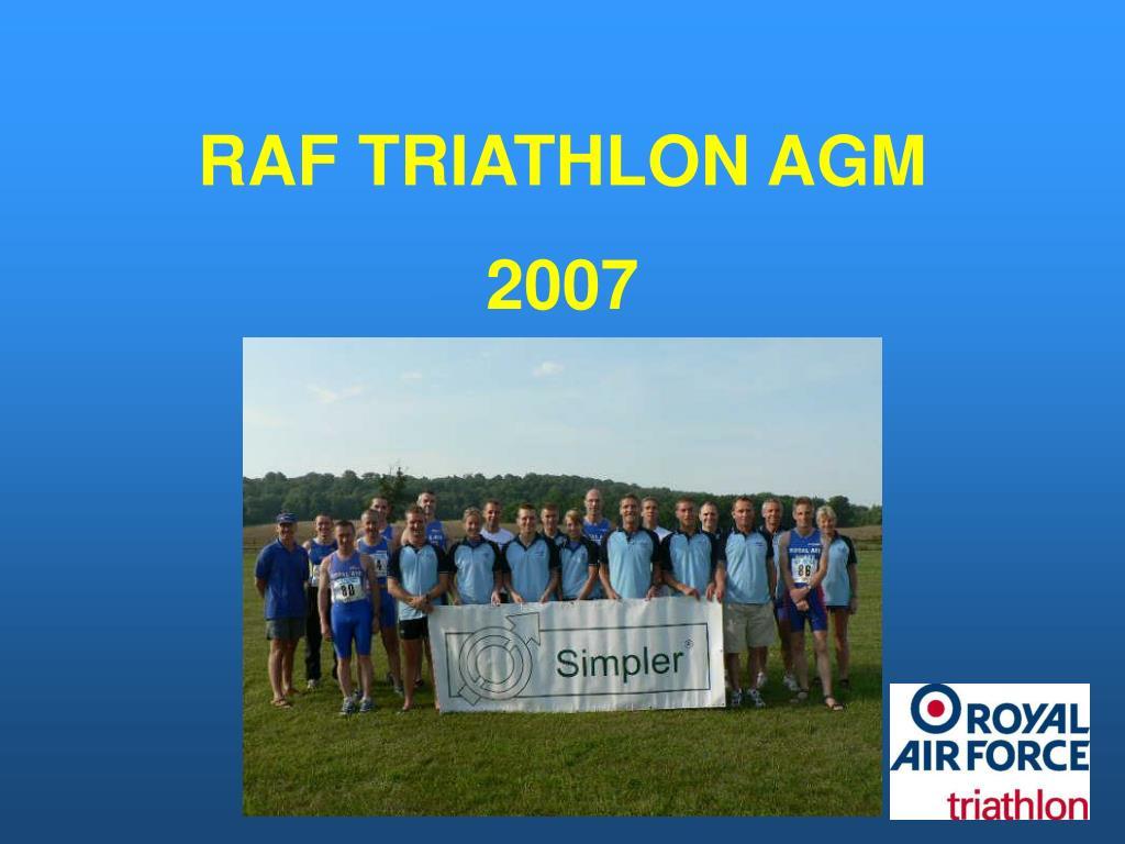RAF TRIATHLON AGM
