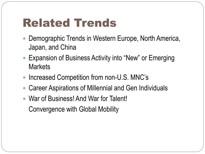Related Trends
