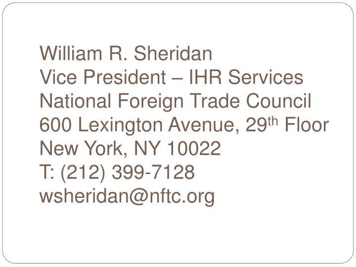 William R. Sheridan