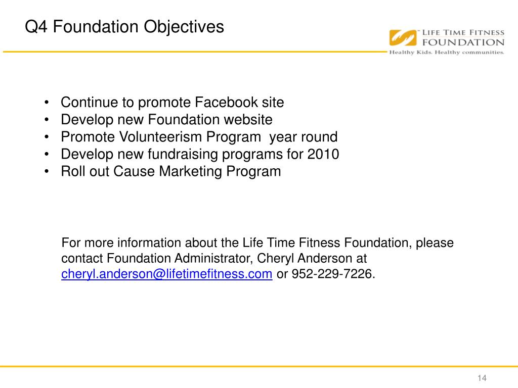 Q4 Foundation Objectives