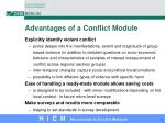 advantages of a conflict module