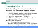 economic welfare 1
