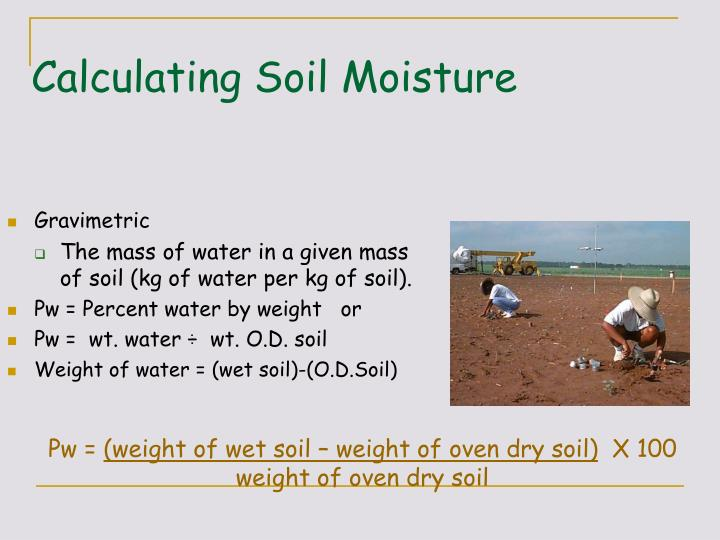 Ppt lecture 7 b soil water part 2 powerpoint for Soil calculator
