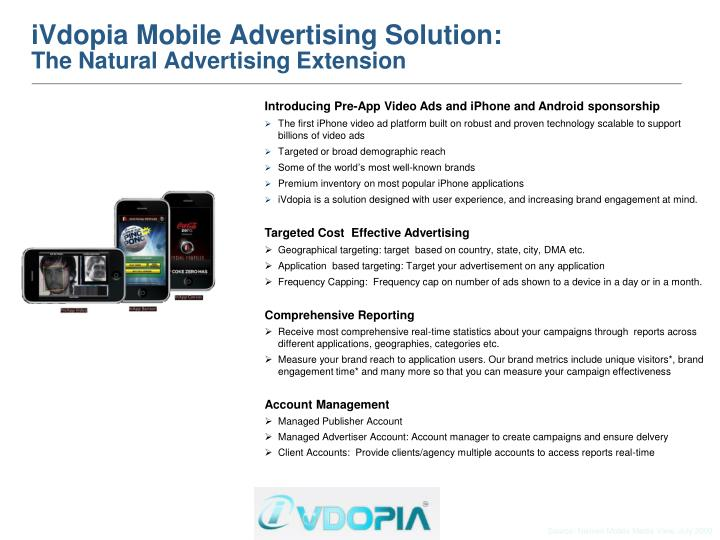 Ivdopia mobile advertising solution the natural advertising extension