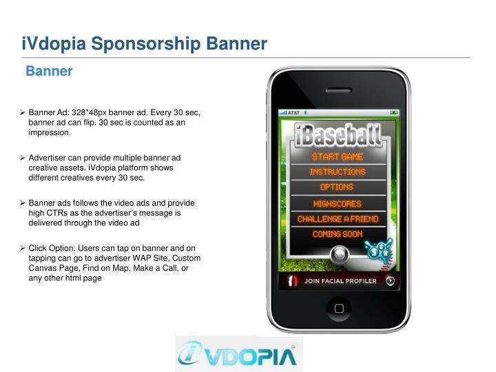 iVdopia Sponsorship Banner