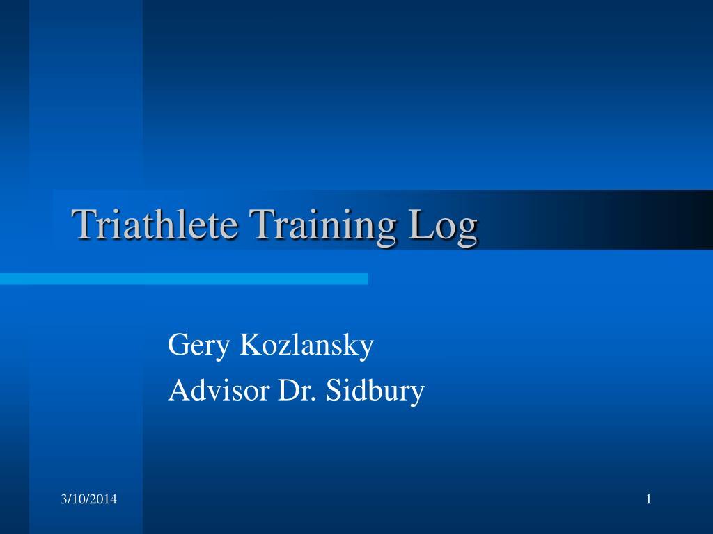 Triathlete Training Log