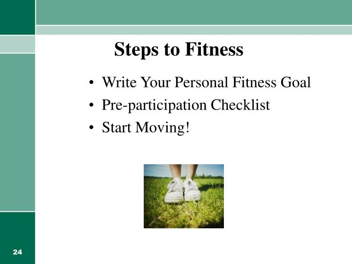 Steps to Fitness