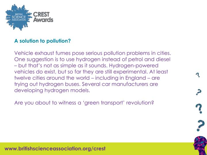 A solution to pollution?