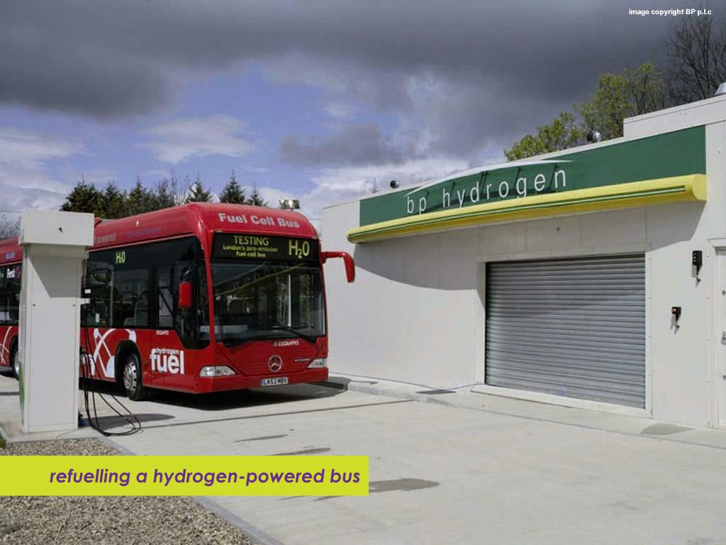 refuelling a hydrogen-powered bus
